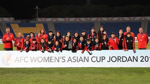 女足亚洲杯:中国击败泰国队获季军,李影穿金靴